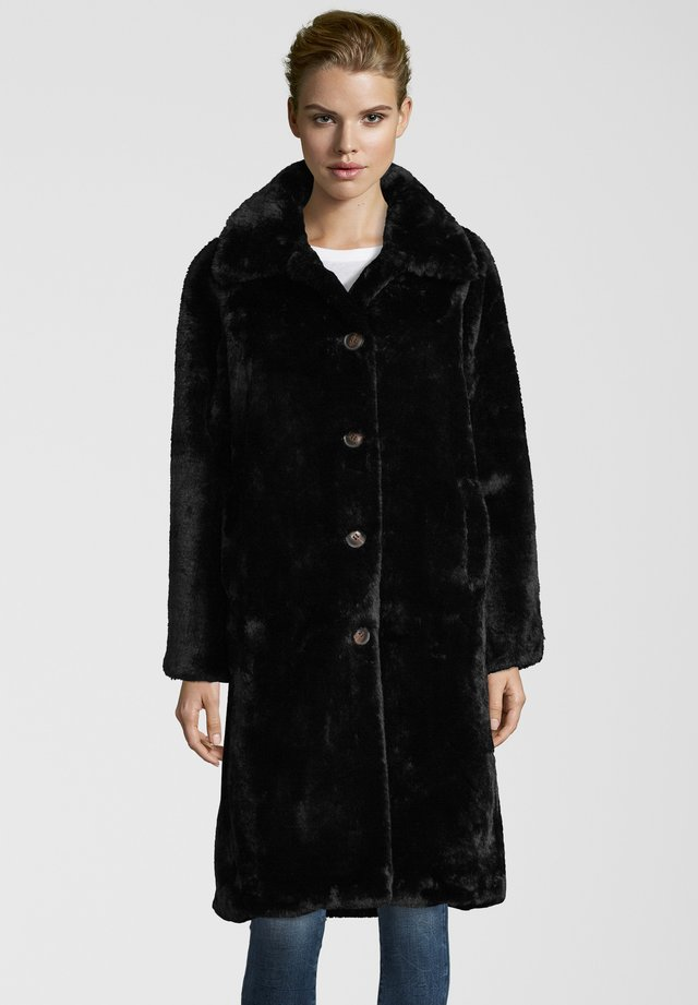 FAKE-FUR-MANTEL ZONNA - Winter coat - black