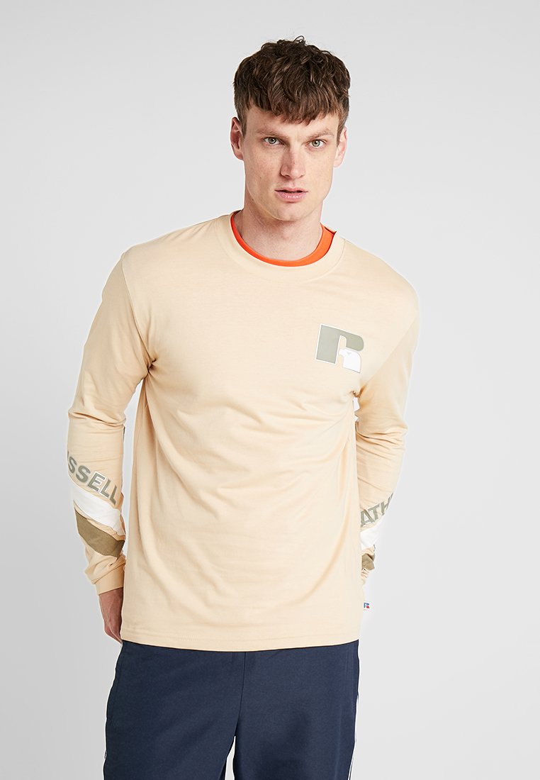 Russell Athletic - ANTONIO BRANDED LONGSLEEVE - Long sleeved top - almond buff