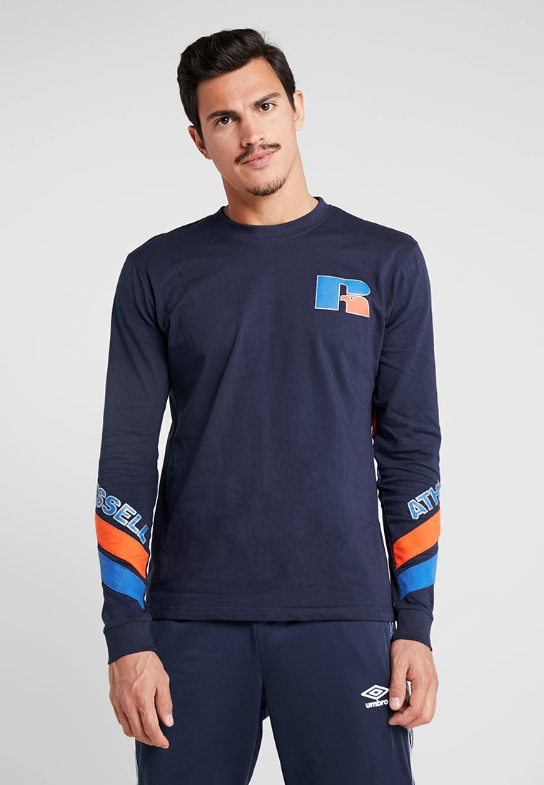 Russell Athletic - ANTONIO BRANDED LONGSLEEVE - Langarmshirt - navy