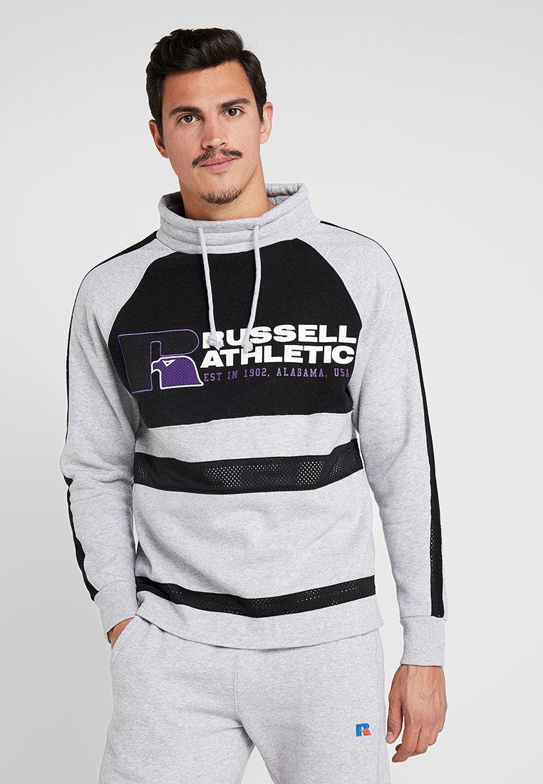 Russell Athletic - LEWIS ORIGINAL WARM UP SWEATER - Sweatshirt - steel marl