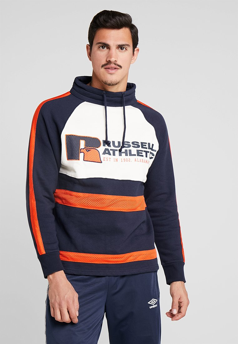 Russell Athletic - LEWIS ORIGINAL WARM UP SWEATER - Sweatshirt - navy