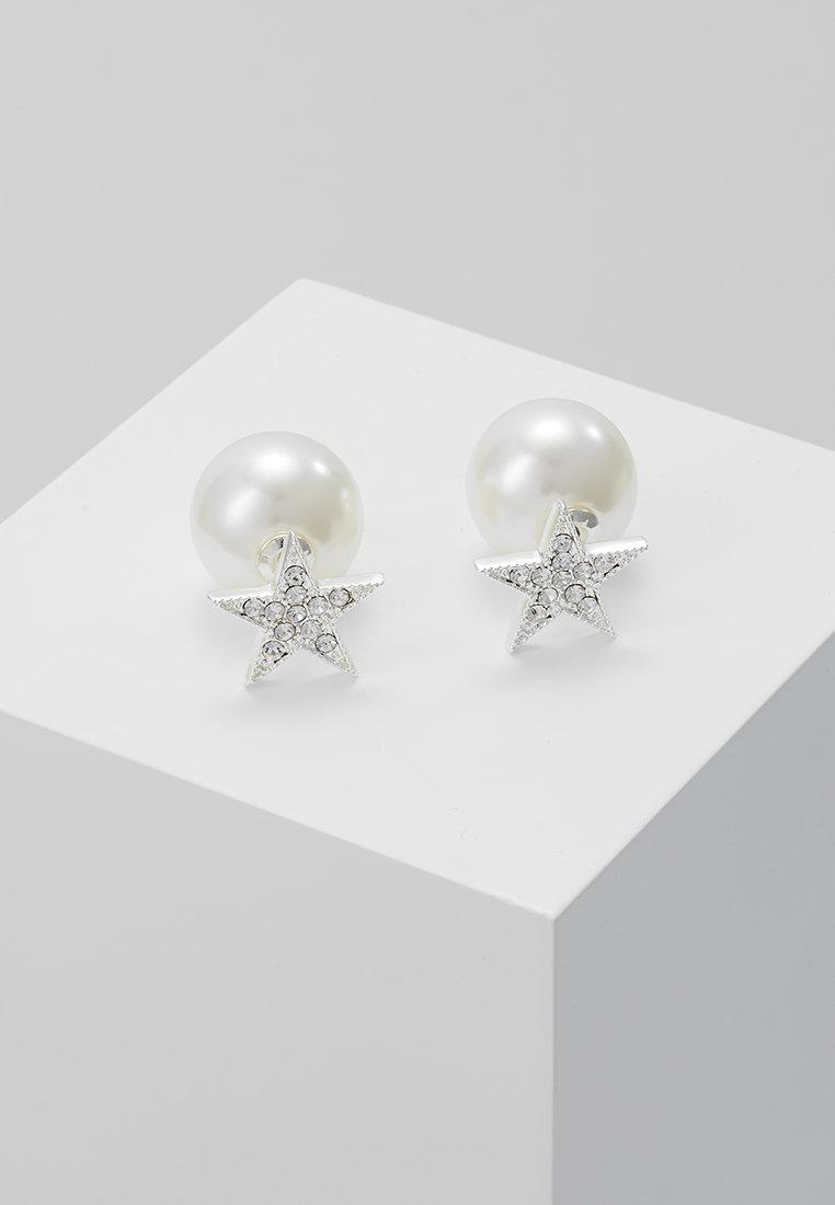 SNÖ of Sweden - STAR PEARL DOUBLE - Boucles d'oreilles - clear