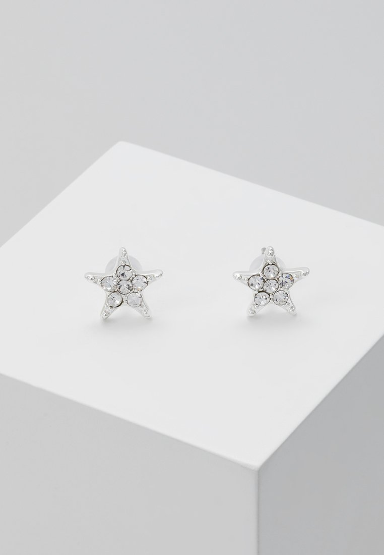 SNÖ of Sweden - STAR SMALL EAR - Pendientes - silver-coloured