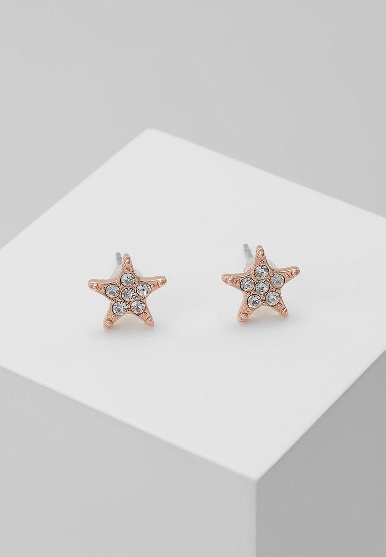 SNÖ of Sweden - STAR SMALL EAR - Ohrringe - rosé/clear