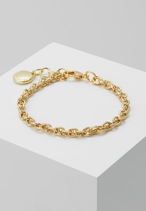 SPIKE SMALL BRACE - Pulsera - plain gold-coloured