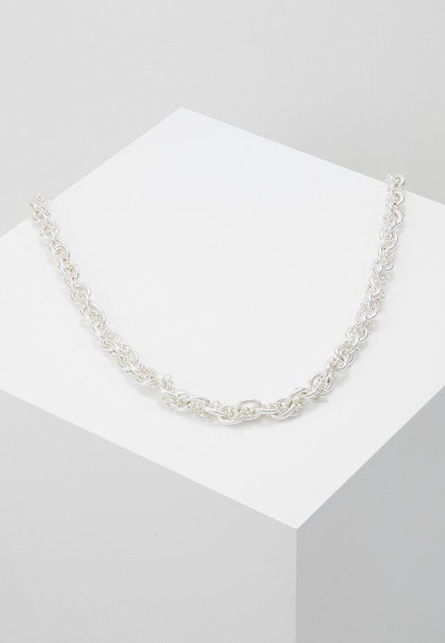 SPIKE - Halsband - plain silver coloured