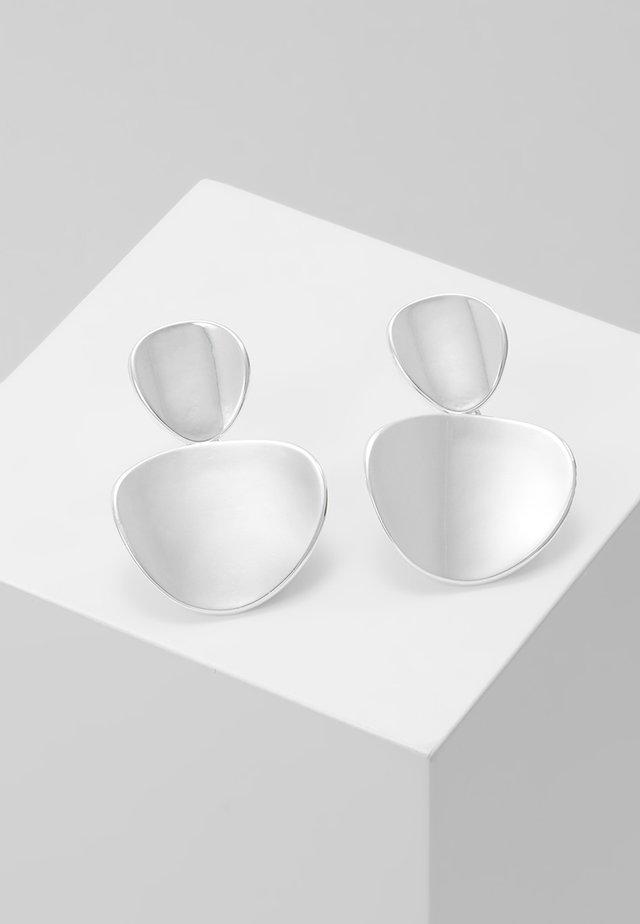 AVERY PENDANT EAR PLAIN - Oorbellen - silver-coloured