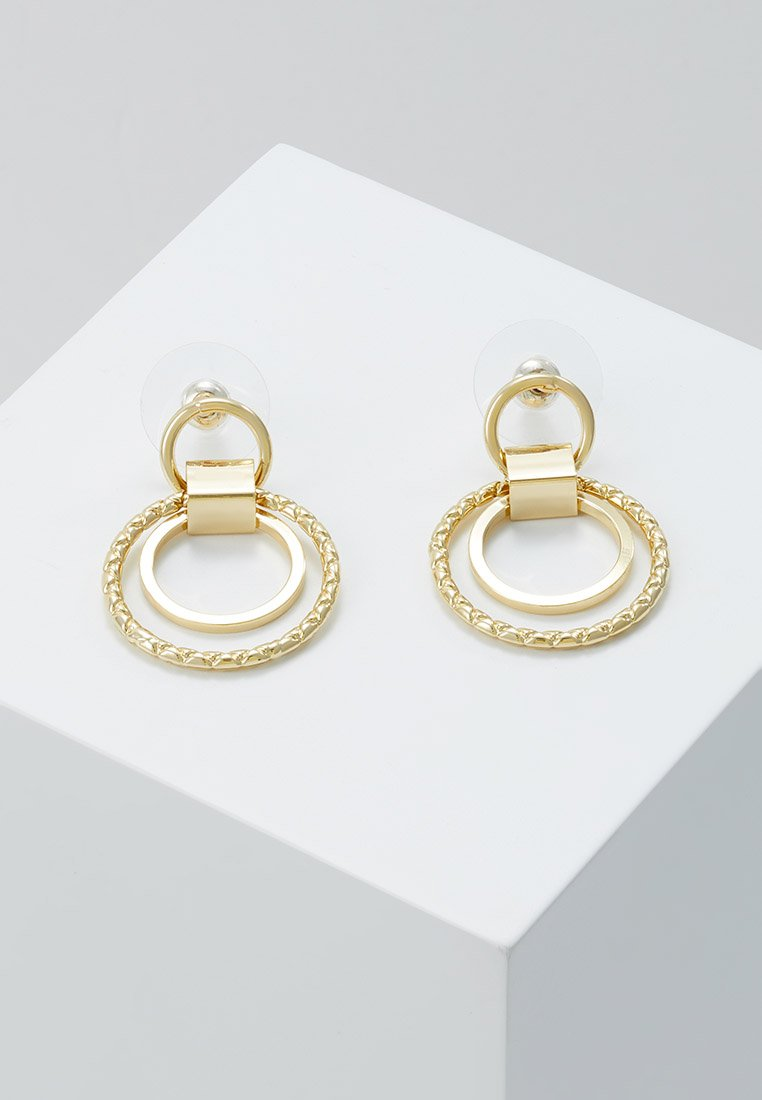 SNÖ of Sweden - CAPELLA SMALL ROUND EAR PLAIN - Earrings - gold