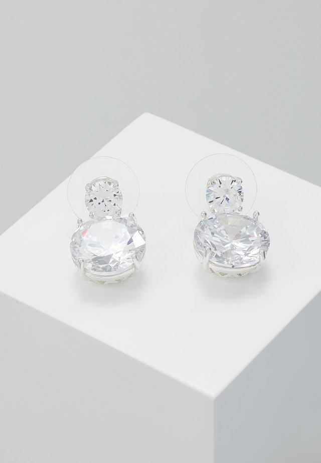 DUO PENDANT EAR - Øreringe - silver-coloured/clear