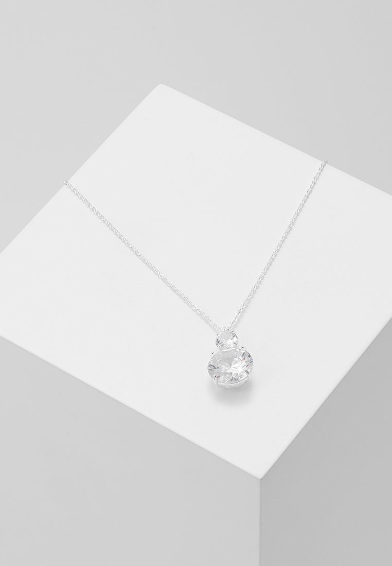 SNÖ of Sweden - DUO PENDANT NECK - Náhrdelník - silver-coloured/clear