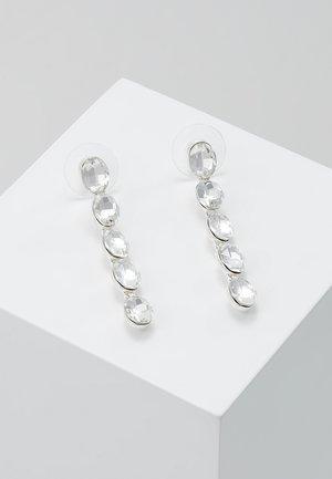 NOVALIE OVAL LONG EAR  - Boucles d'oreilles - silver-coloured/clear