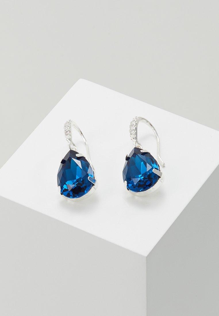 SNÖ of Sweden - BIRGIT STONE PENDANT EAR - Oorbellen - silver-coloured/blue