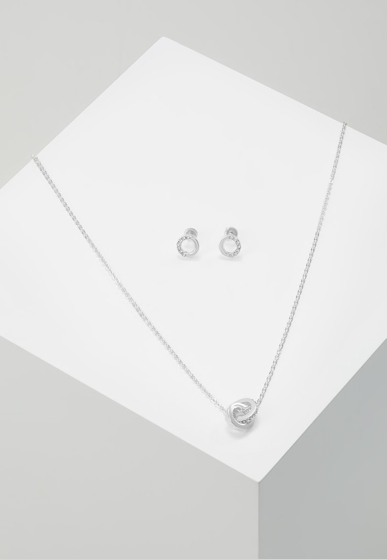 SNÖ of Sweden - GIFT NECK SET CONNECTED - Øreringe - silver-coloured