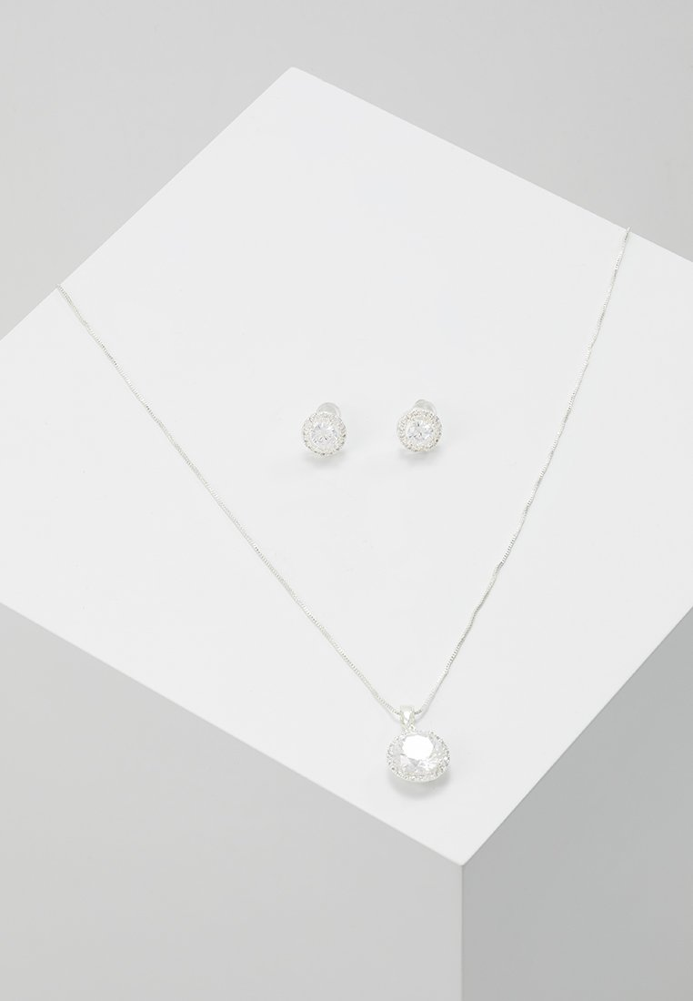 SNÖ of Sweden - GIFT NECK SET LEX - Örhänge - silver-coloured