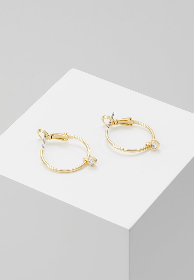 SNÖ of Sweden - MINI ROUND EAR - Earrings - gold-coloured/clear