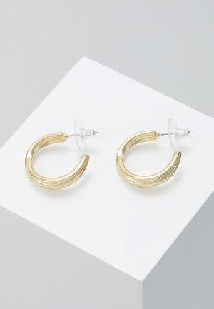 HELENA BIG OVAL EAR PLAIN - Pendientes - gold-coloured