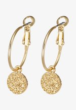PENNY COIN ROUND EAR PLAIN - Earrings - gold-coloured