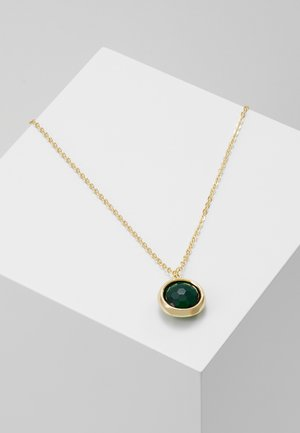 ELDINA PENDANT NECK - Halsband - gold-coloured/green
