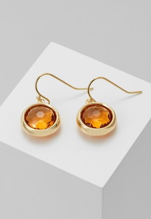 ELDINA PENDANT EAR - Örhänge - gold-coloured/orange