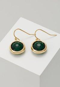 SNÖ of Sweden - ELDINA PENDANT EAR - Boucles d'oreilles - gold-coloured/green - 0