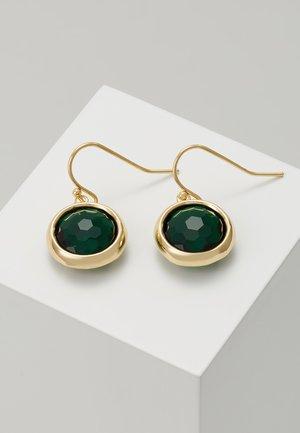 ELDINA PENDANT EAR - Kolczyki - gold-coloured/green