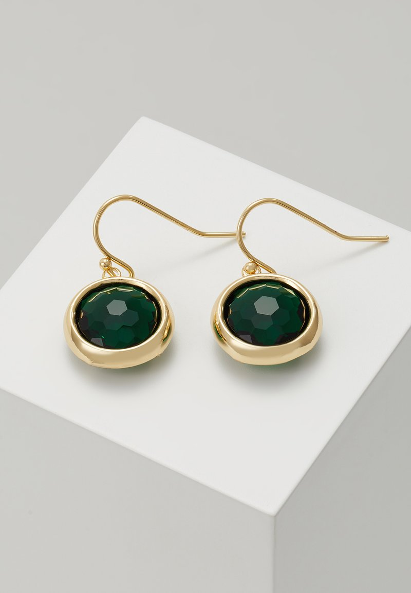 SNÖ of Sweden - ELDINA PENDANT EAR - Boucles d'oreilles - gold-coloured/green