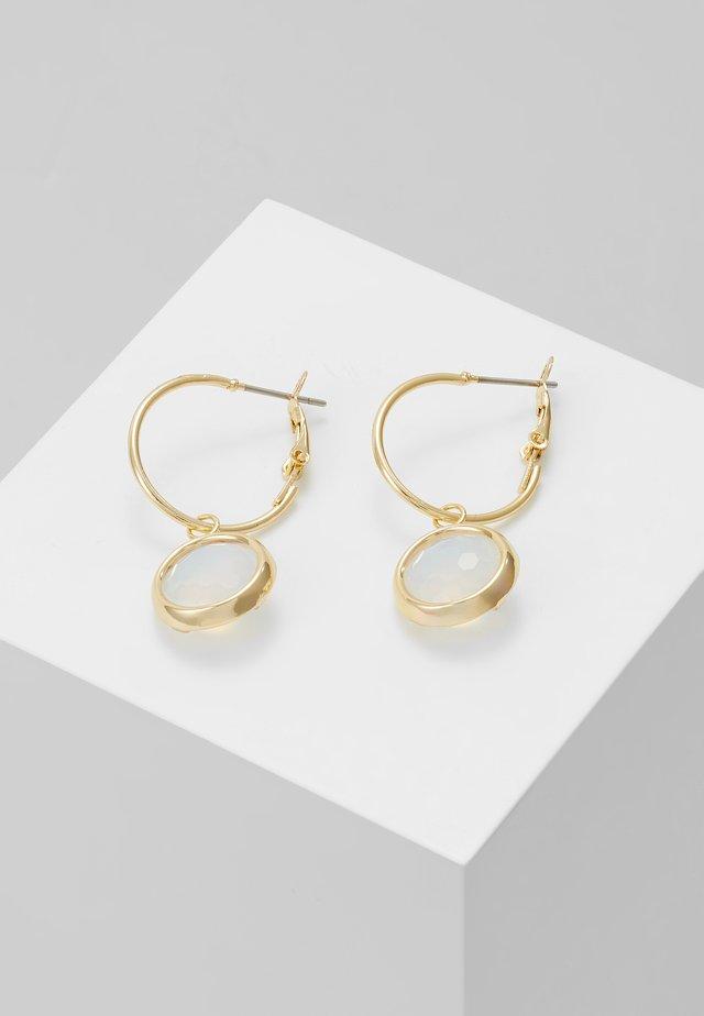 ELDINA SMALL ROUND EAR - Øreringe - gold-coloured/white