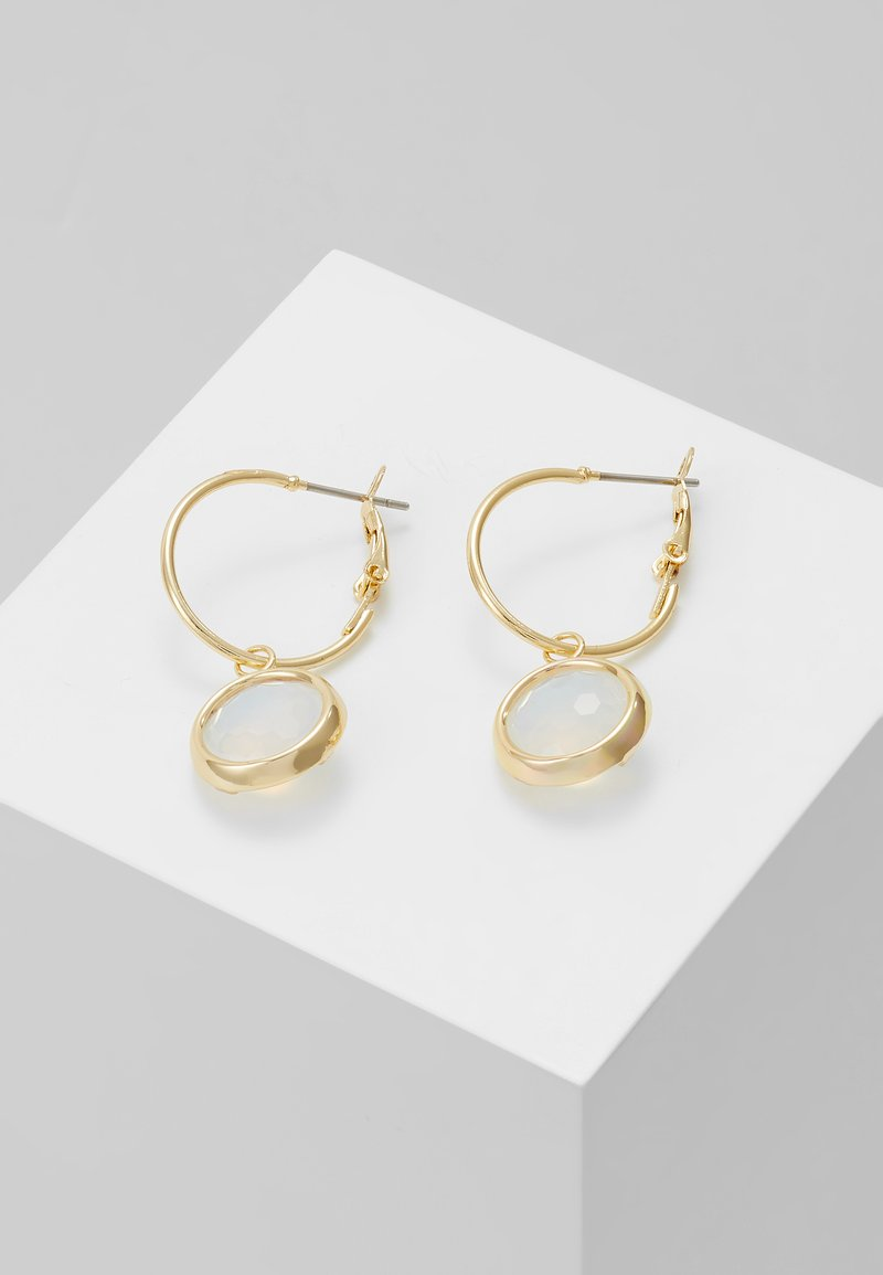 SNÖ of Sweden - ELDINA SMALL ROUND EAR - Earrings - gold-coloured/white