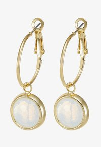 SNÖ of Sweden - ELDINA SMALL ROUND EAR - Earrings - gold-coloured/white - 3