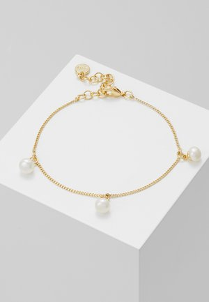 ISABELLA CHARM BRACE - Pulsera - gold-coloured/white