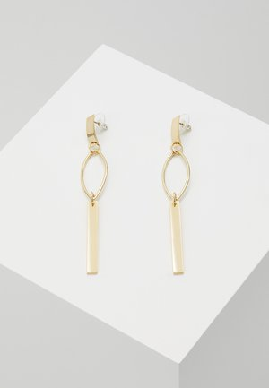 ISABELLA LONG DROP EAR - Náušnice - plain gold-coloured