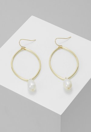 ISABELLA DROP EAR - Øreringe - gold-coloured/white
