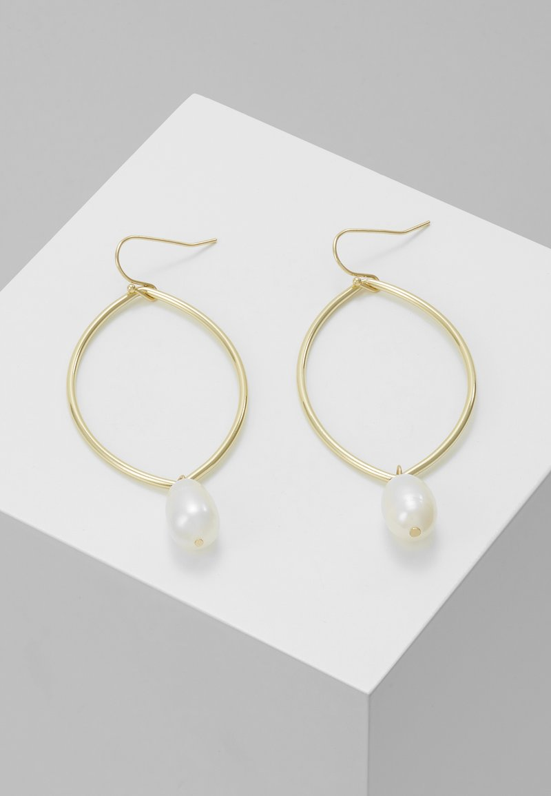 SNÖ of Sweden - ISABELLA DROP EAR - Kolczyki - gold-coloured/white