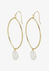SNÖ of Sweden - ISABELLA DROP EAR - Kolczyki - gold-coloured/white - 3