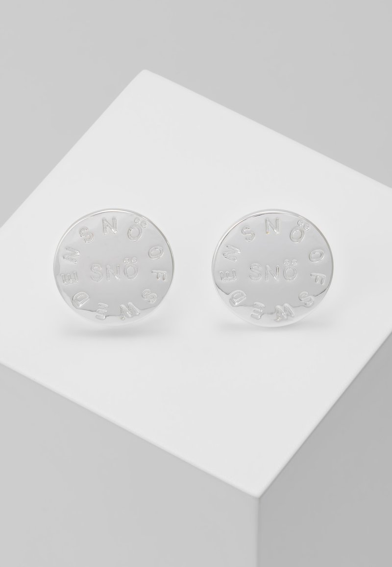 SNÖ of Sweden - MADELEINE EAR PLAIN - Korvakorut - silver-coloured