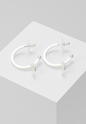 MADELEINE ROUND EAR PLAIN - Earrings - silver-coloured