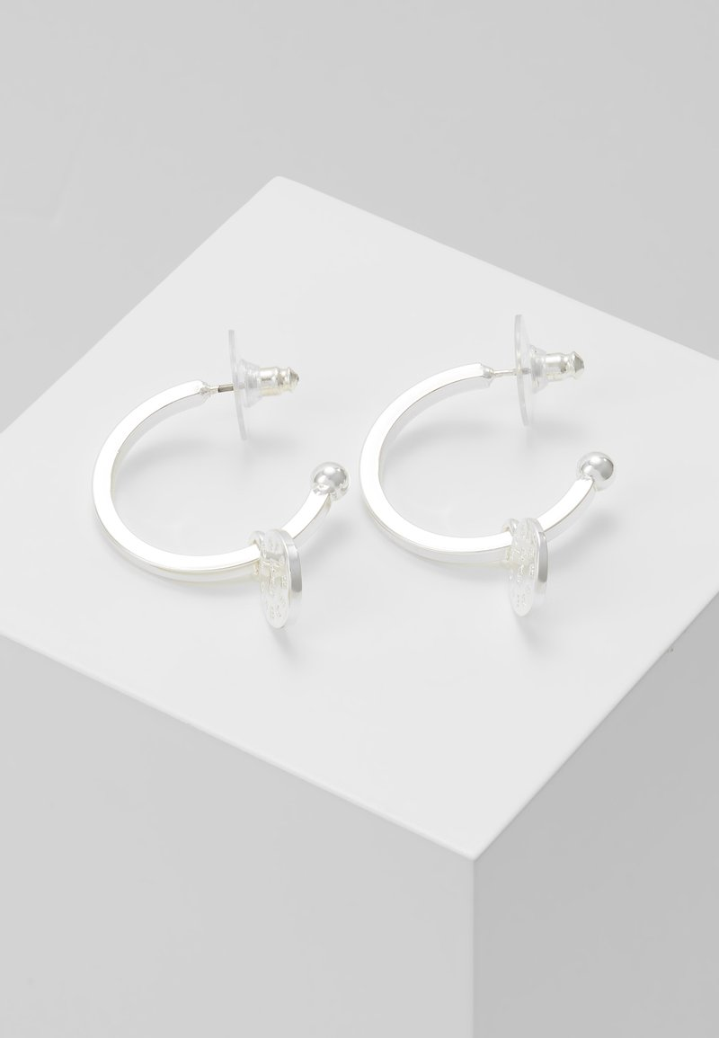 SNÖ of Sweden - MADELEINE ROUND EAR PLAIN - Earrings - silver-coloured