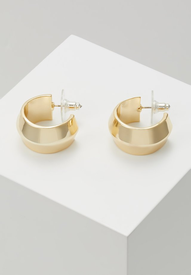 KIM OVAL EAR PLAIN - Earrings - gold-coloured