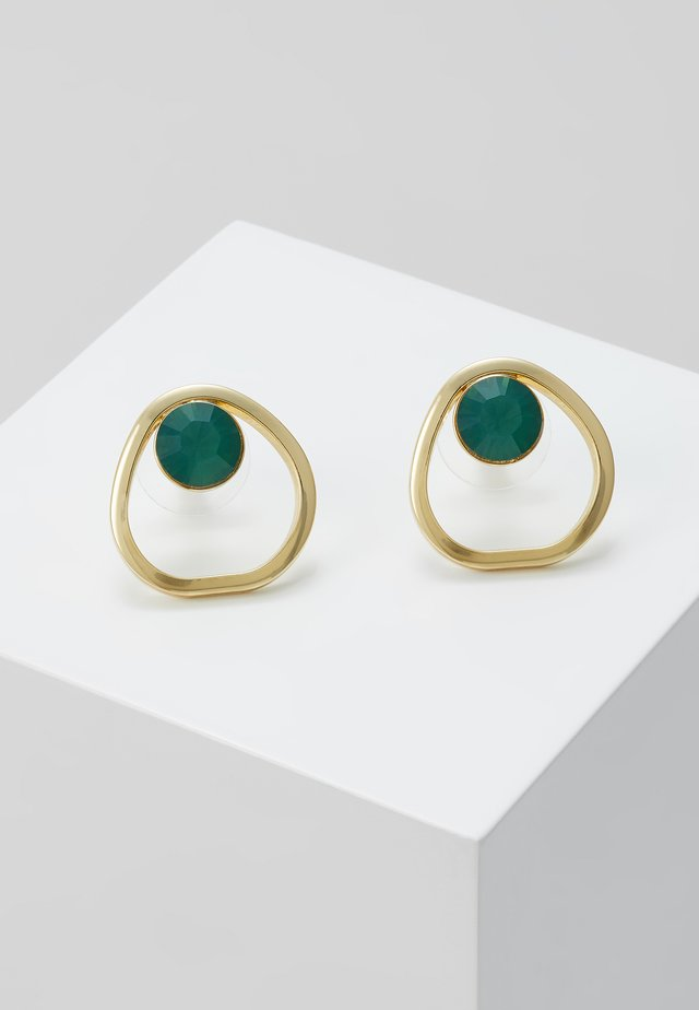 LIW GLOBE EAR - Earrings - gold-coloured/green