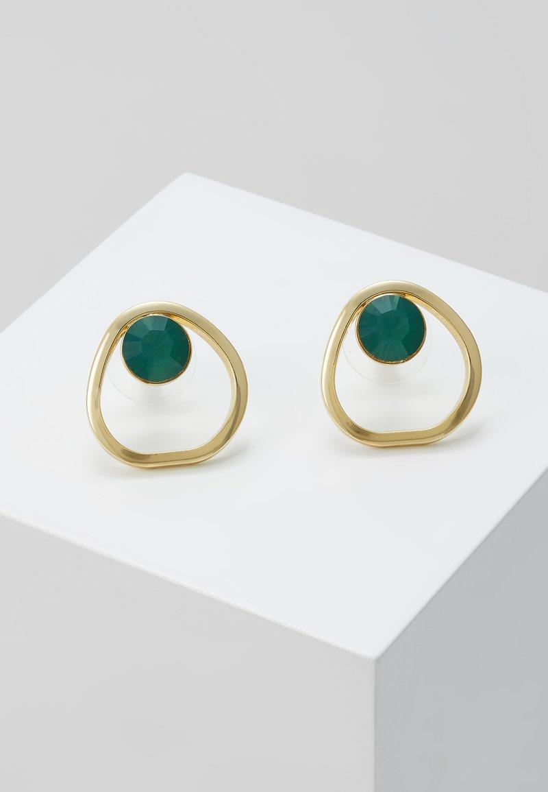 SNÖ of Sweden - LIW GLOBE EAR - Náušnice - gold-coloured/green