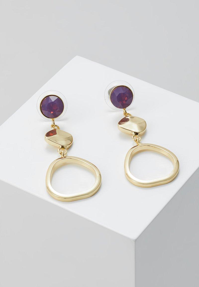 SNÖ of Sweden - LIW LONG MIX EAR - Oorbellen - gold-coloured/purple