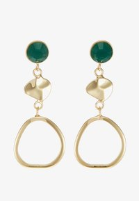 SNÖ of Sweden - LIW LONG MIX EAR - Boucles d'oreilles - gold-coloured/green - 3