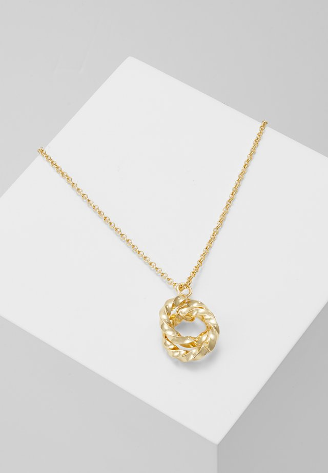 TURN GLOBE PENDANT NECK - Necklace - gold-coloured