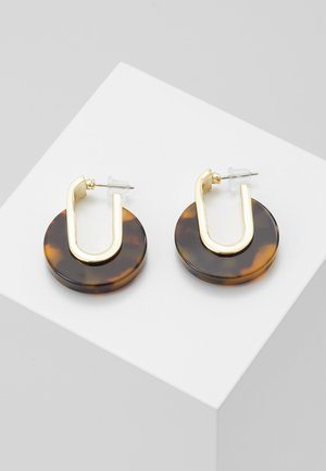 SMALL OVAL EAR - Boucles d'oreilles - gold-coloured/brown