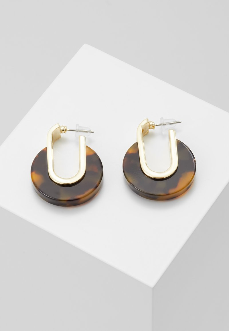 SNÖ of Sweden - SMALL OVAL EAR - Boucles d'oreilles - gold-coloured/brown