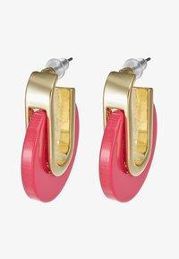 SNÖ of Sweden - SMALL OVAL EAR - Oorbellen - gold-coloured/pink - 3