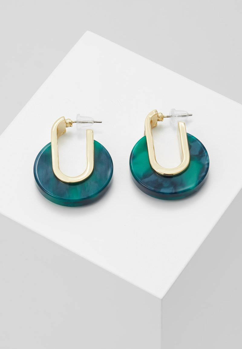 SNÖ of Sweden - SMALL OVAL EAR - Boucles d'oreilles - gold-coloured/green