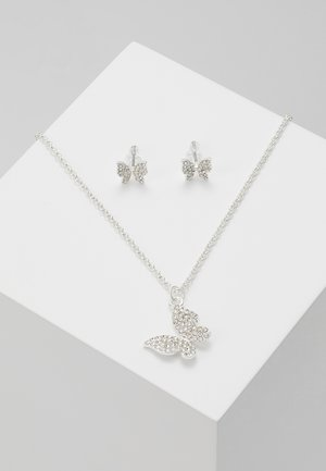 BELIZE BUTTERFLY PENDANT SET - Örhänge - silver-coloured/clear
