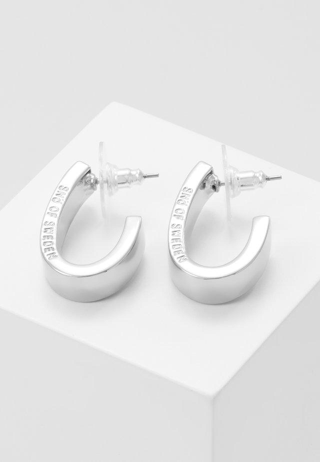 BRIDGET WIDE OVAL EAR - Earrings - silver-coloured