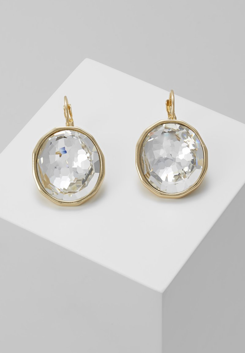 SNÖ of Sweden - NOCTURNE PENDANT EAR CLEAR - Earrings - gold-coloured